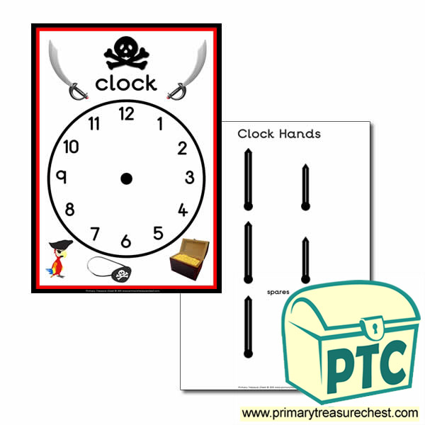Role Play Pirate Ship Clock