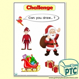 'Can you draw …?' Elf Drawing Challenge