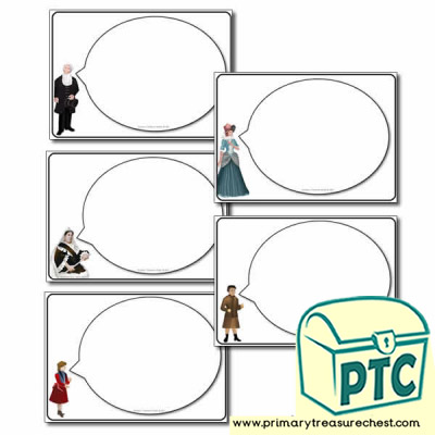 'The Victorians' Themed Speech Bubble Worksheets