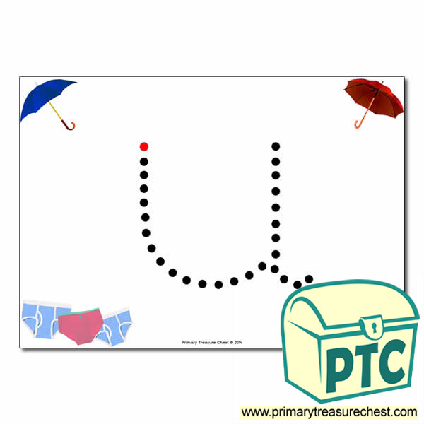 'u' Lowercase Letter Formation Activity - Join the Dots