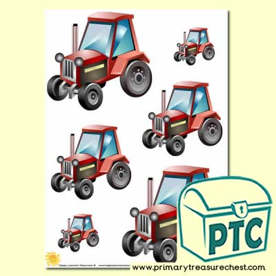 Tractor Themed Scissor Control Worksheet