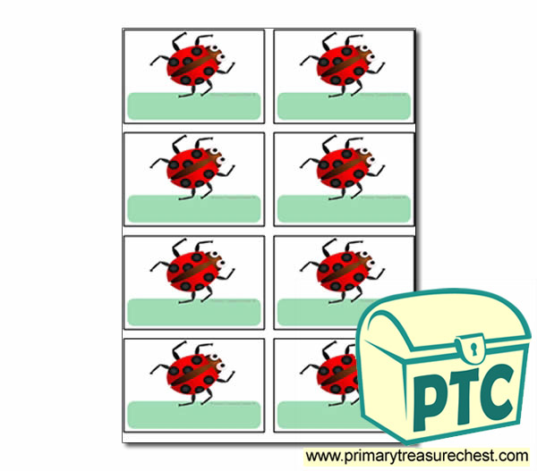 Ladybird Coat Hook Labels