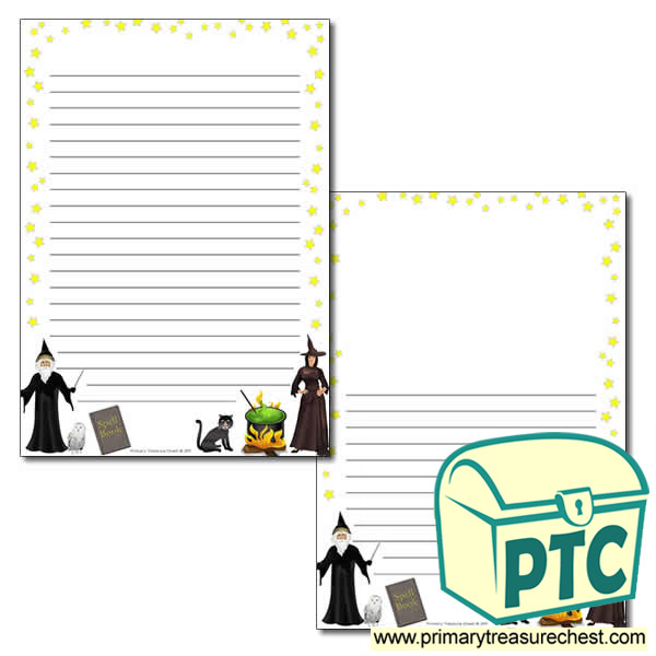 Magic Themed Page Border/Writing Frame (narrow lines)