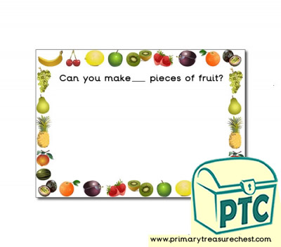 Fruit Themed Playdough Mat Primary Treasure Chest
