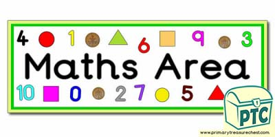Maths area Classroom sign/banner