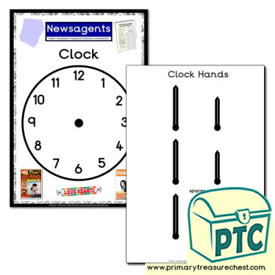 Newsagents Shop Role Play Clock
