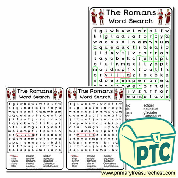 Roman Themed Word Search