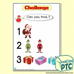 Winter / Christmas Themed 'Can you find …?' Words & Pictures Challenge