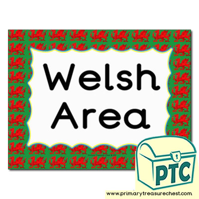 Welsh area Classroom sign