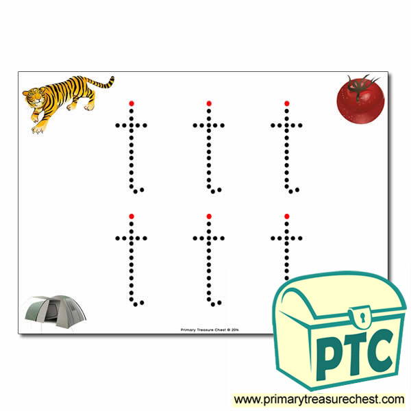 't' Lowercase Letter Formation Activity - Join the Dots