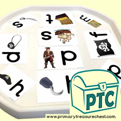 Pirate Themed Phonics Tuff Tray Cards