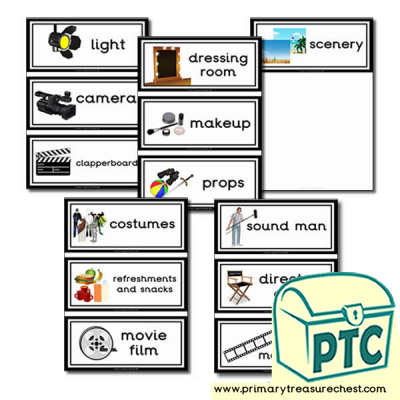 Film Studio Role Play Flashcards