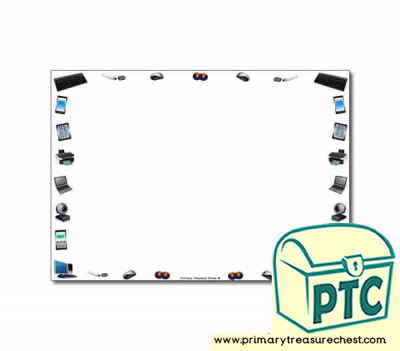 Electrical Appliances themed Landscape Page Border/ Writing Frames (no lines)