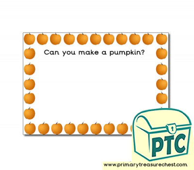 Pumpkins Themed Topic Playdough Mats