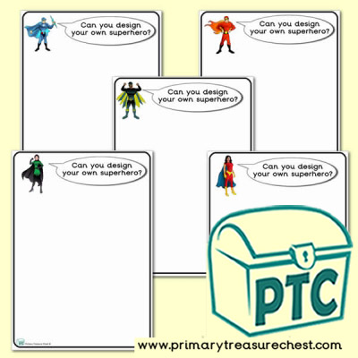 Design Your Own Superheroes Worksheets