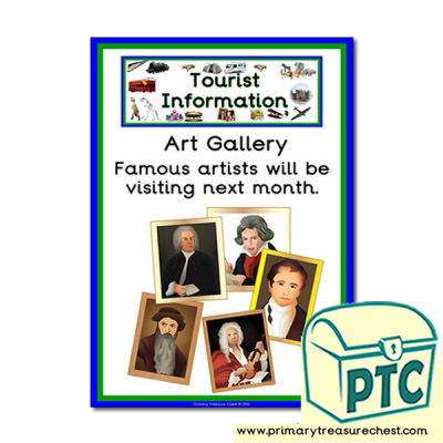 Tourist Information Art Gallery Themed Poster