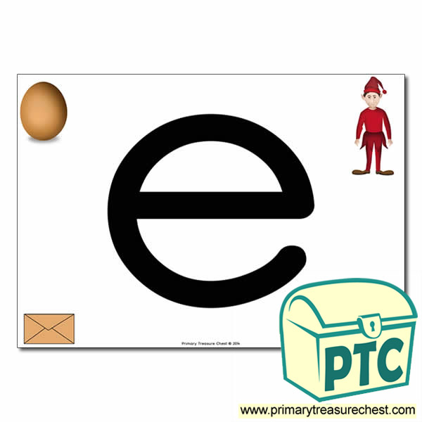 'e' Lowercase  Letter A4 Poster containing high quality realistic images.