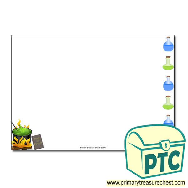 Magic Potion Themed Landscape Page Border/Writing Frame (no lines)