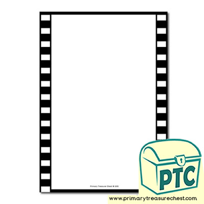 Camera Film Themed Page Border/Writing Frame (no lines)