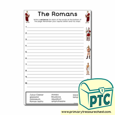 Roman Themed Sentence Worksheet