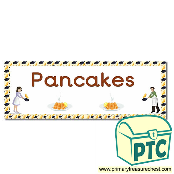 'Pancakes' Display Heading/ Classroom Banner