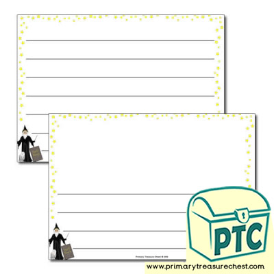 Magic Spells Landscape Page Border /Writing Frame (wide lines)