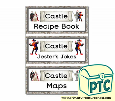 Medieval Castle Role Play Book Covers / Labels