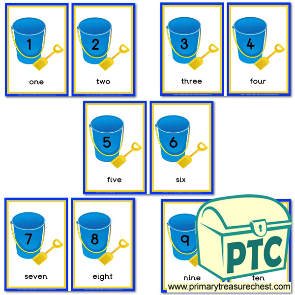 Bucket and Spade Number Line 1-10