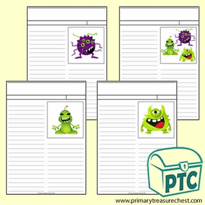Alien Themed Newspaper worksheets