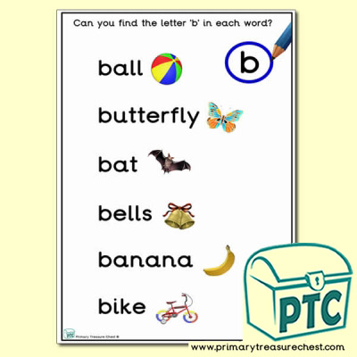 Find the Letter 'b' Activity Sheet