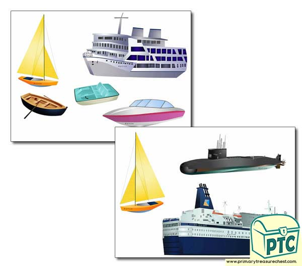 Sea Transport Storyboard / Cut & Stick Images