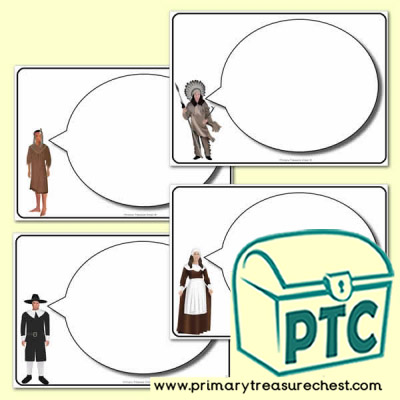 Thanksgiving Speech Bubble Worksheets