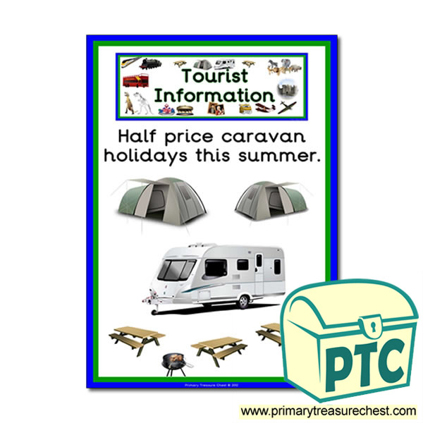 Tourist Information Caravan Park Themed Poster