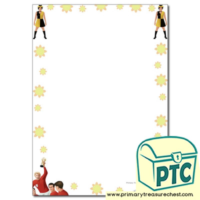 1960s Themed Page Border/Writing Frame (no lines)