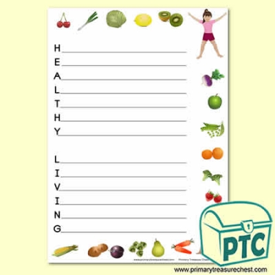 'Healthy Living' Acrostic Poem Sheet