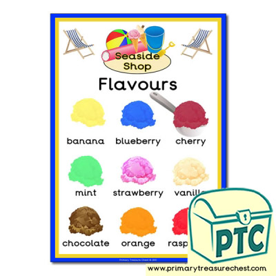 Ice Cream Flavours Poster