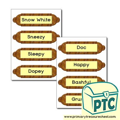 Picture frames labels- Snow White and The Seven Dwarfs