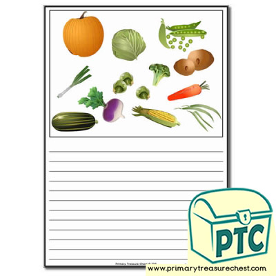 Vegetables Themed Worksheet