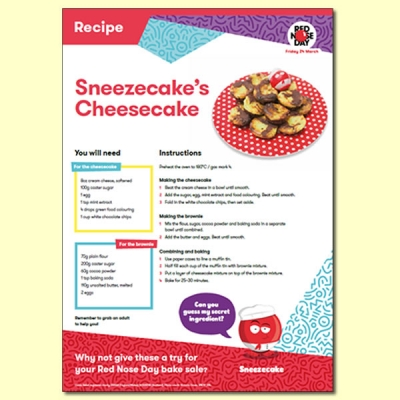 Sneezecake's Cheesecake Recipe For Red Nose Day