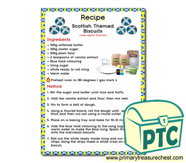 Scottish Themed Biscuits Recipe Poster