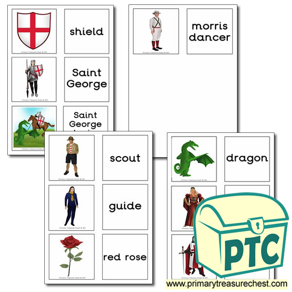 Saint George's Day Matching Cards
