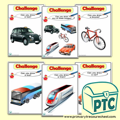 Land Transport Themed ICT Challenge Cards