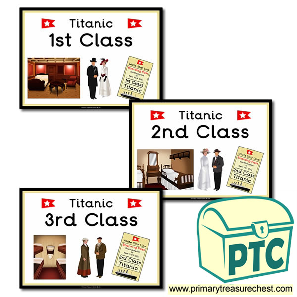 Titanic Themed Display Signs