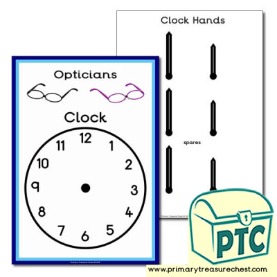 Role Play Opticians Clock