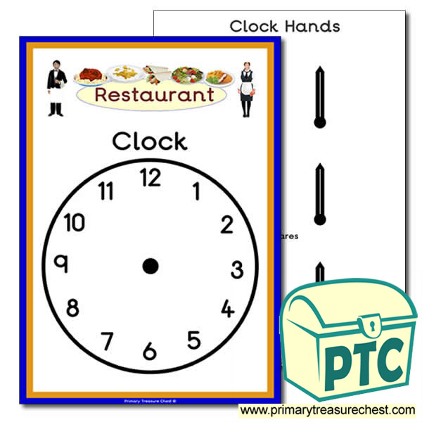 Restaurant Role Play Clock