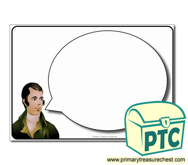 Robert Burns Speech Bubble Worksheet