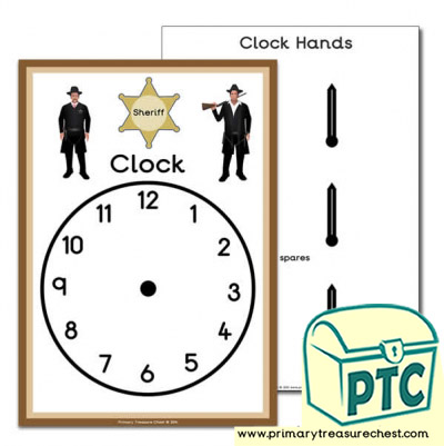 Wild West Sheriff Role Play Clock