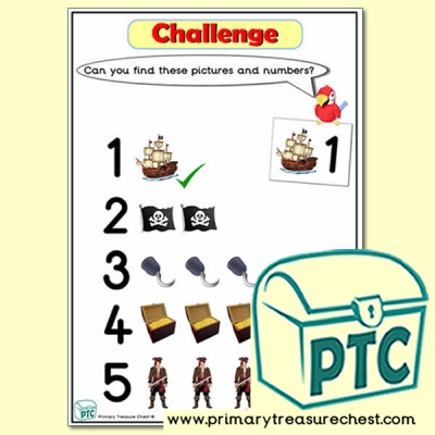Pirate Themed Tuff Tray Number Challenge