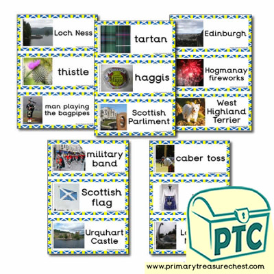 Scottish Themed Flashcards with Photos