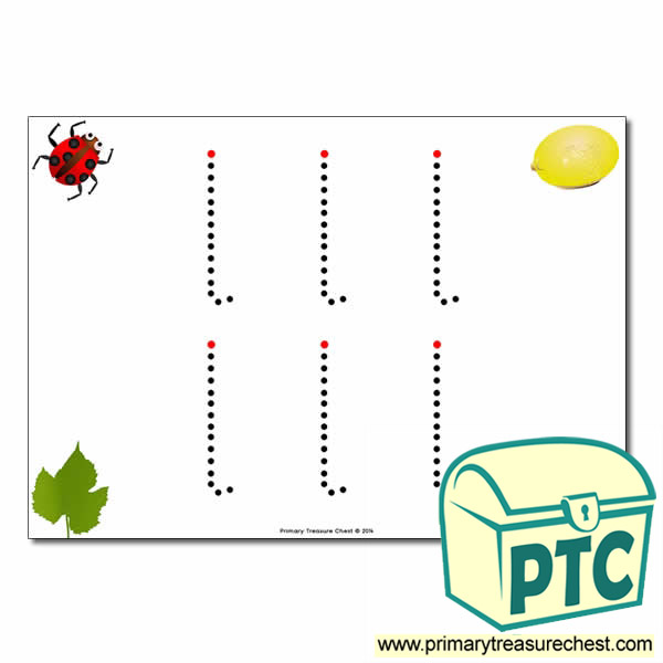 'l' Lowercase Letter Formation Activity - Join the Dots